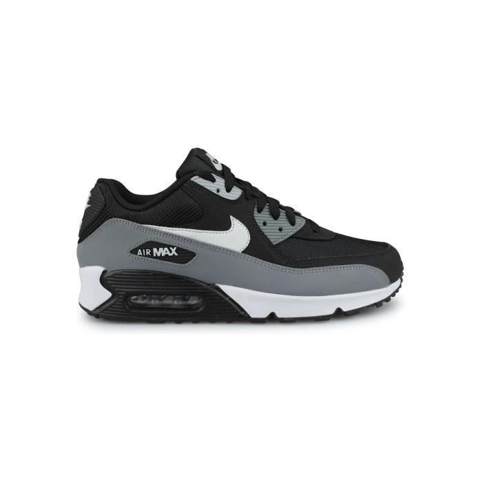 Baskets Nike Air Max 90 Essential Noir Noir - Cdiscount Chaussures