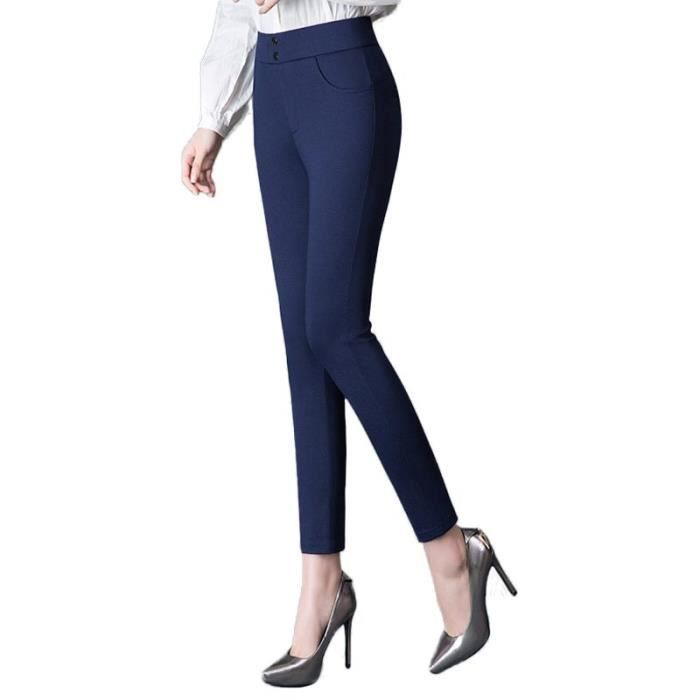Pantalon 7-8 Stretch Femme Slim Fit Taille