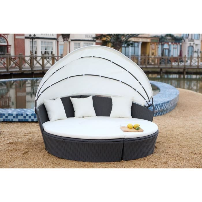 salon de jardin modulable 6 8 pers en r sine grise achat. Black Bedroom Furniture Sets. Home Design Ideas