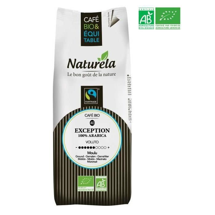 CAFÉ MOULU Naturela -250g- Café Exception 100% Arabica Équita