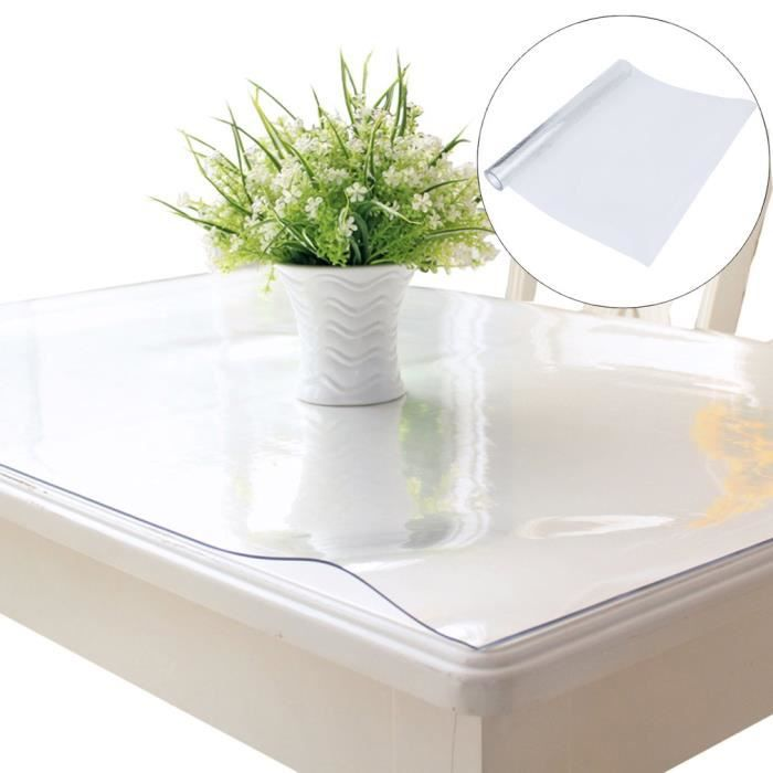 PVC Film pour Table 2mm Transparent de Protection Nappe