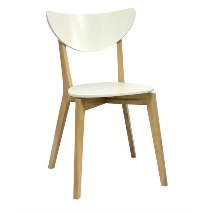 Lot de 4 chaises swithome nusa blanches achat vente - Lot 4 chaises blanches ...