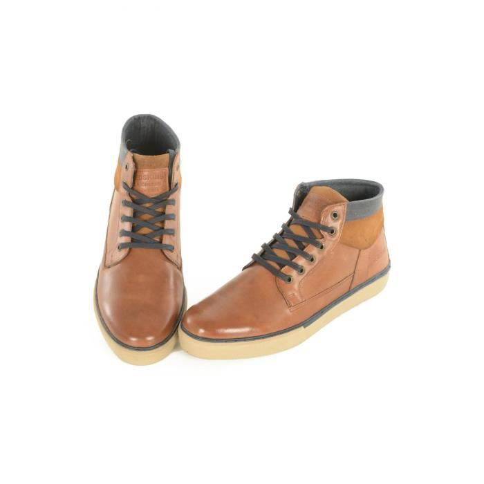Boots bicolores cuir Cournol -REDSKINS Marron Homme G50Cdw5hR