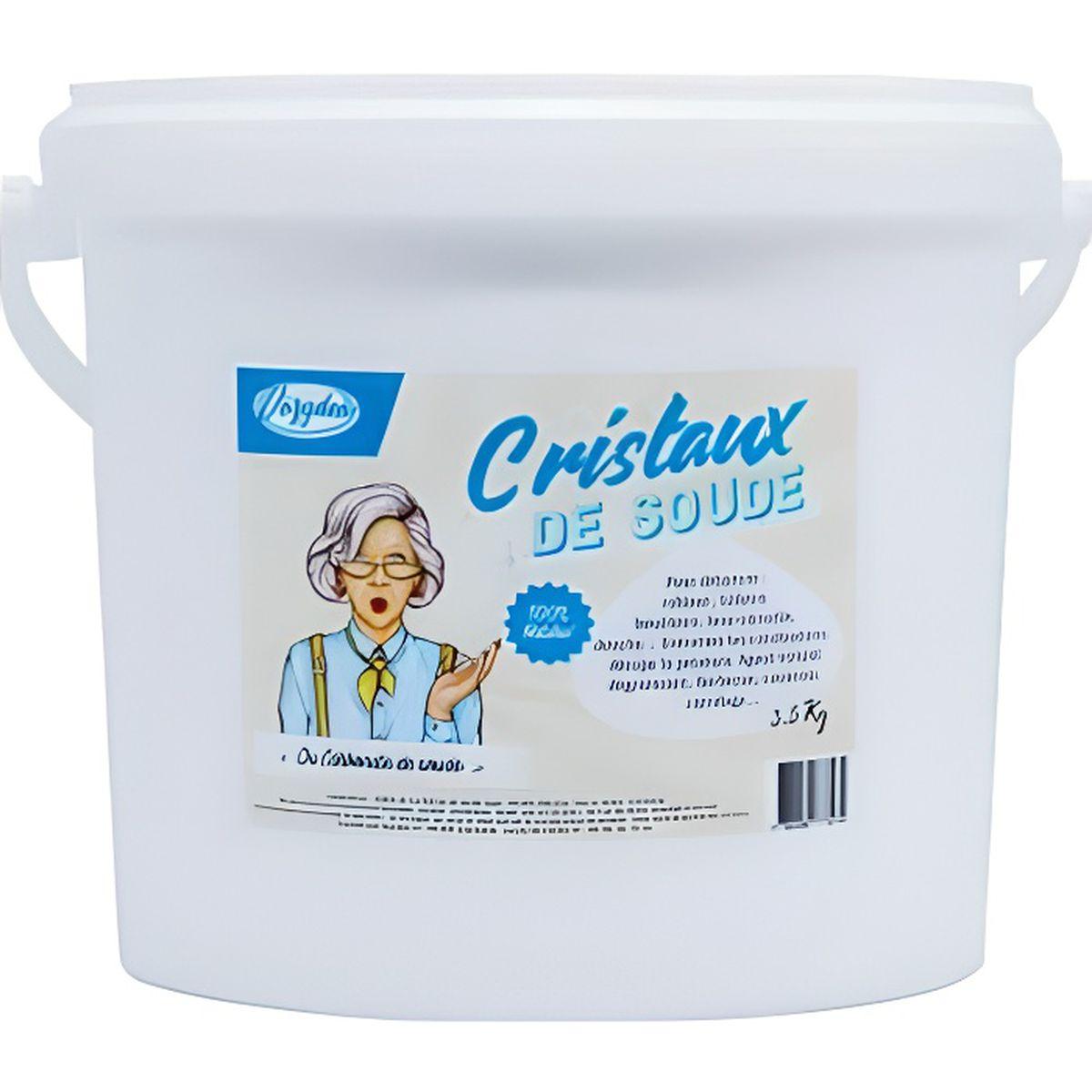 Cristaux De Soude Nettoyage cristaux de soude 3.5kg, nettoie, dégraisse, détartre, blanchit & adoucit  l'eau- guide d'utilisation offert !