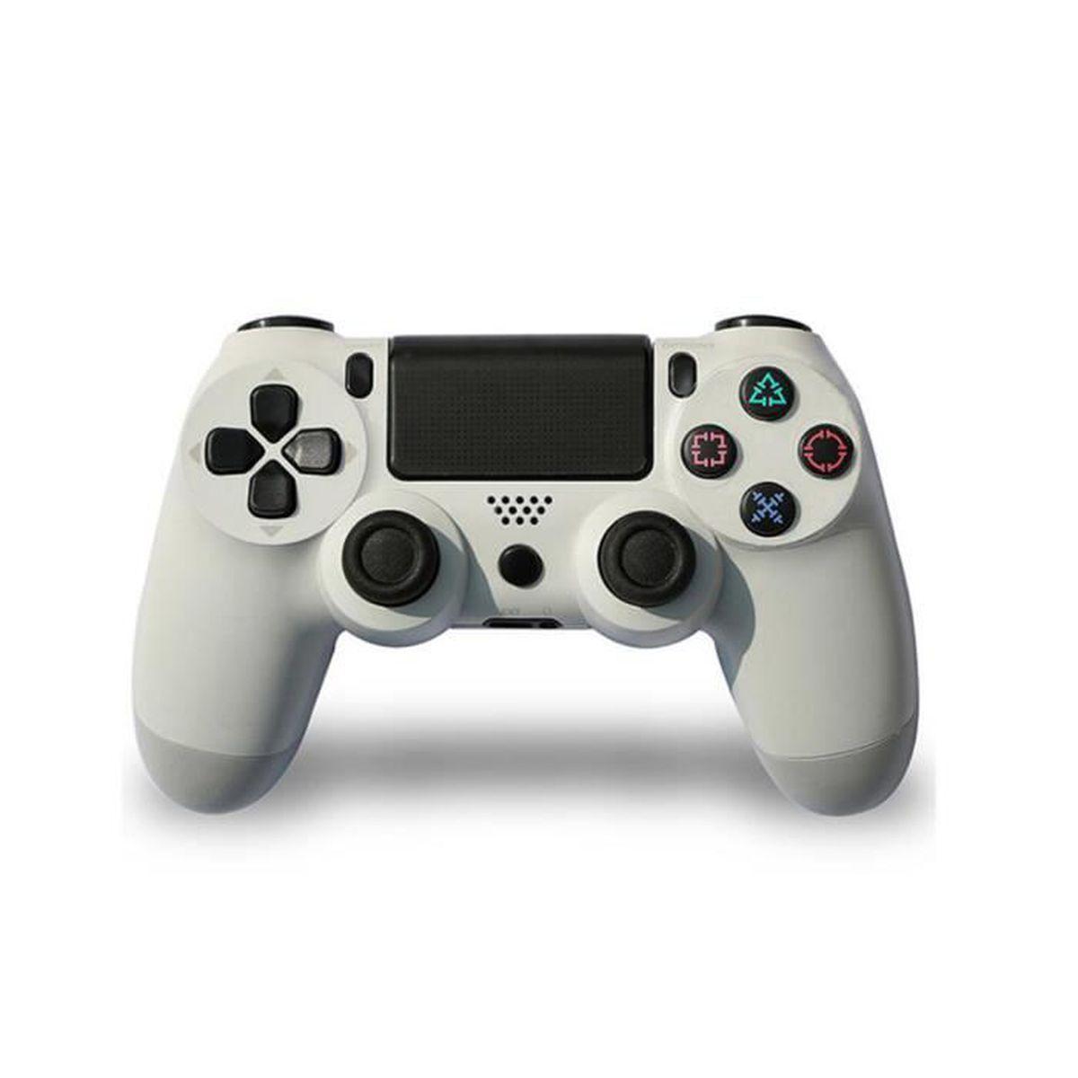 MANETTE JEUX VIDÉO Manette de jeu PS4 Blanc avec Sticker Autocollant