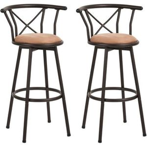 TABOURET DE BAR Lot de 2 Tabouret de Bar Hauteur d'assise 77cm Piv