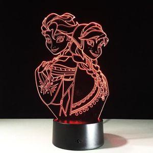 OBJETS LUMINEUX DÉCO  3D Nuit Lumière Lampe Acrylique Coloré La Reine de