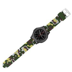 MONTRE CONNECTÉE Camouflage Sport silicone souple du bracelet montr