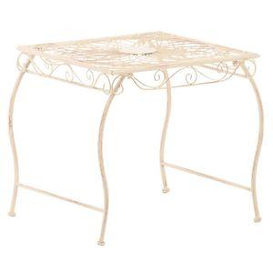 TABLE DE JARDIN  Table de jardin en fer coloris crème antique - 46