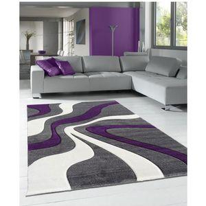 TAPIS DIAMOND VAGUES violet 60x110, par Unamourdetapis,