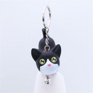 PORTE-CLÉS Porte-clés chat créatif (noir et blanc chat)