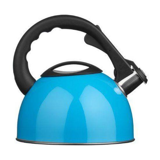 Whistling Kettle bleu//acier inoxydable 2.5Ltr