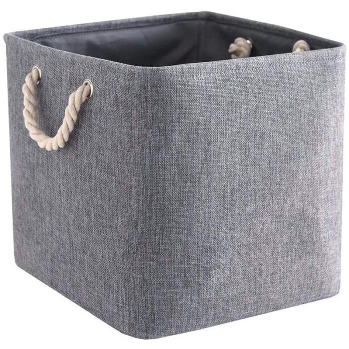 NORCKS Cube de Rangement Tissu, Panier Cube de Rangement, Boite de Rangement Pliable pour Jouets, Vêtement (Lot de 1, Gris )