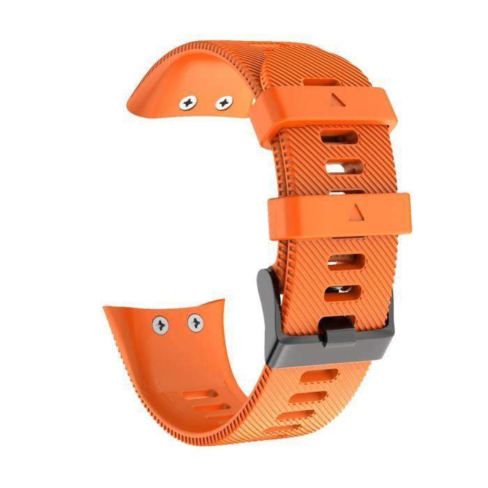Bracelet de montre de rechange en silicone souple de sport pour Garmin Forerunner 45S FQQ90910105OR_jenny