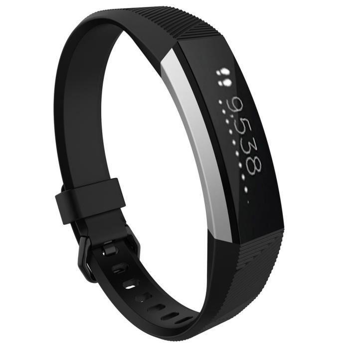 bracelet de montre vendu seul Petit fermoir en silicone pour bracelet de rechange pour montre Fitbit Alta HR BK NGH70510101BK_non