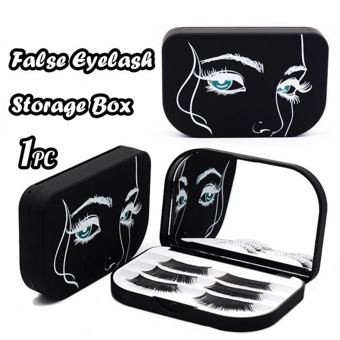 Acrylique mignon Faux Cils Bow Boîte de rangement Maquillage Miroir cosmétique Case Organisateur @yunghuji276