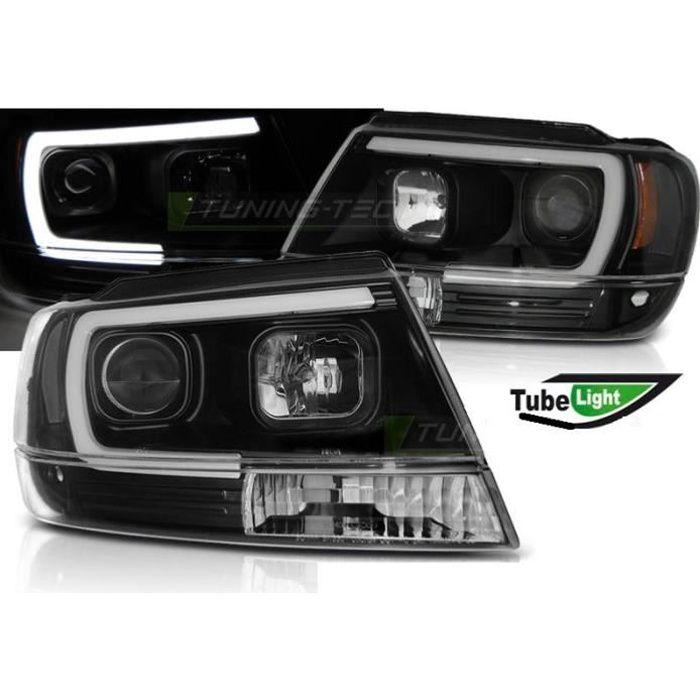 Paire de feux phares Jeep Grand Cherokee 99-05 LED LTI noir-31088952