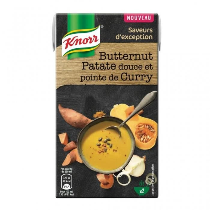 Knorr Saveurs d'Exception Butternut Patate Douce et Pointe de Curry 50cl (lot de 4)