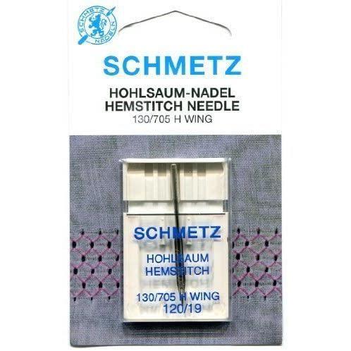 Schmetz Aiguilles pour machine à coudre, Hemstitch (Wing), Taille 120/19