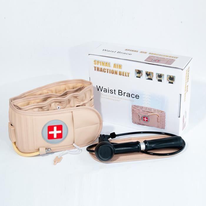 1 ensemble taille Air Traction orthèse ceinture colonne vertébrale soutien lombaire dos soulagement ceintu - HSJSZHA01271