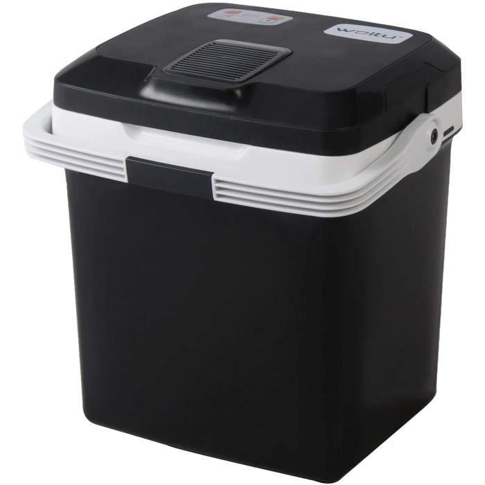 KUE002sz Glacière électrique Mini Réfrigérateur 26L Isotherme Chaud-Froid, 12V et 230V pour Voiture et Camping [Classe énergéti450