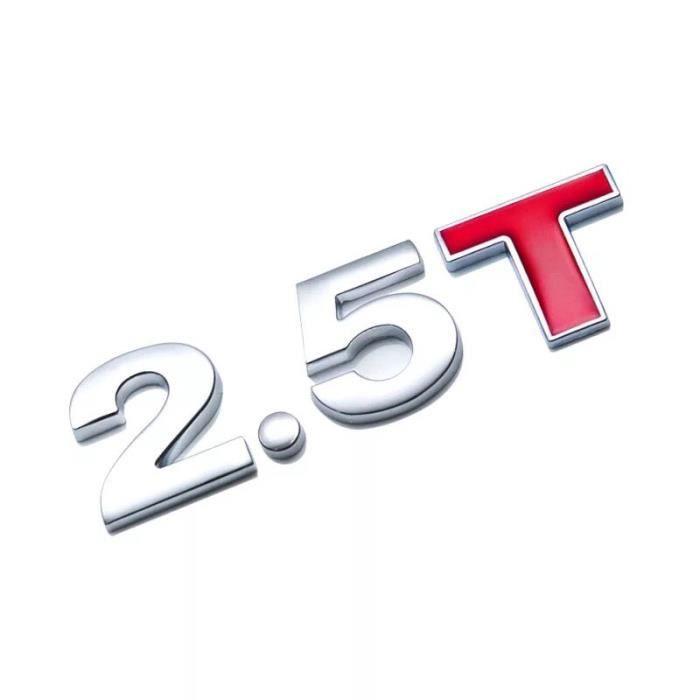 Voiture déplacement autocollant métal 1.0 1.2 1.5 1.6 1.8 2.0 2.5 2.8 3.0 T volume logo voiture coffre arrière emblème b LX7862