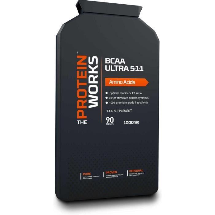 Amaigrissement et perte de poids BCAA Ultra - Ratio 5:1:1 - THE PROTEIN WORKS - Acide Aminé - 90 Comprimés 552735