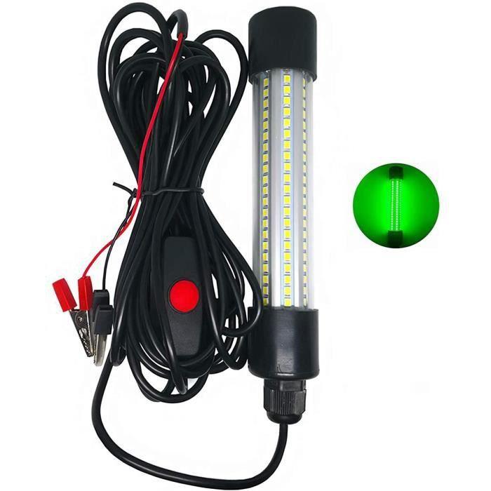 Youool Lampe de pêche Submersible à LED Lampe de Recherche de Poisson sous-Marine Lampe de Recherche dappât de pêche de Nuit, 12,572