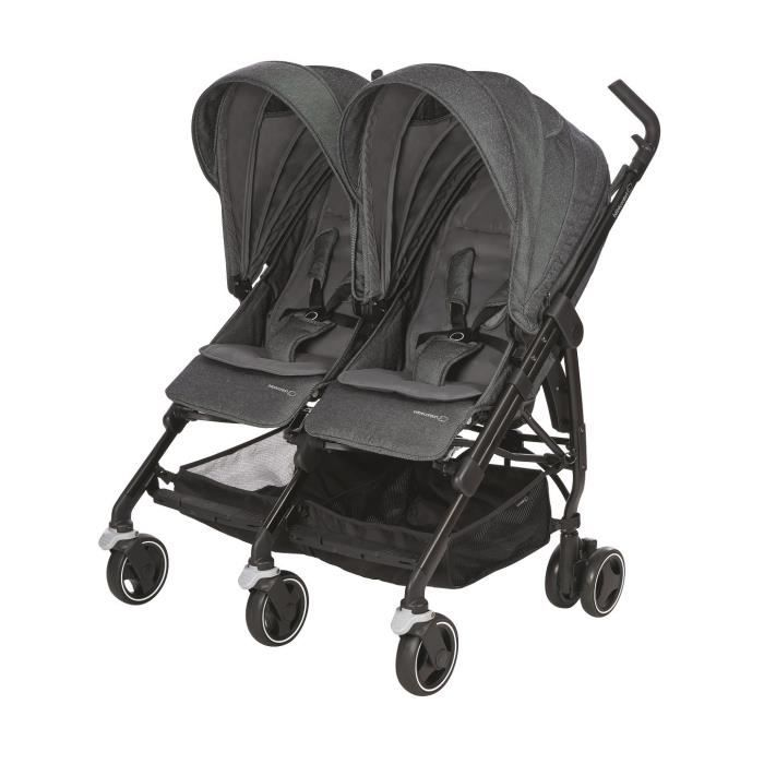 BEBE CONFORT Poussette double Dana For 2 - Sparkling Grey