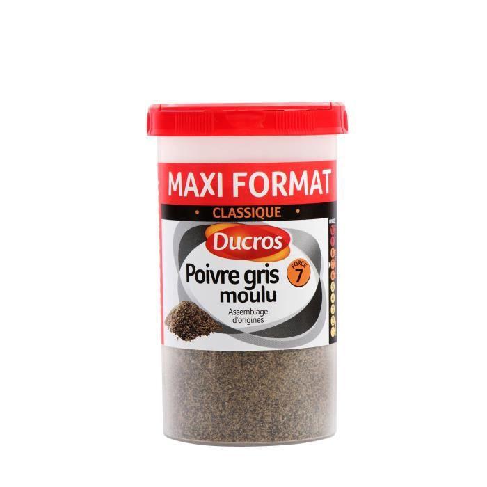 DUCROS Poivre gris moulu nº 7 classique - Boite ménagère - 90 g