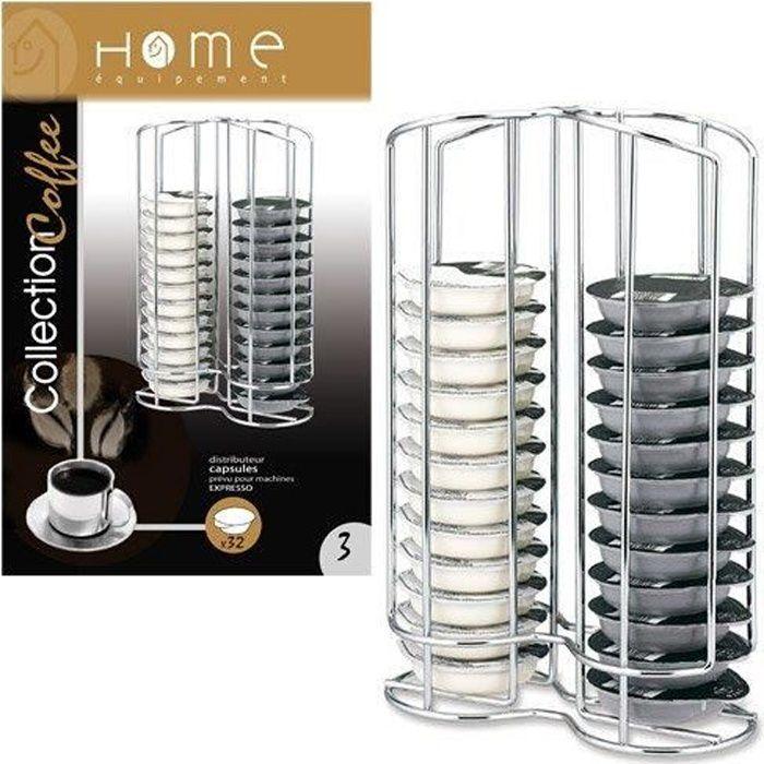 Home Equipement 50927, 32 capsules, Acier inoxydable, Acier inoxydable, Bosch Tassimo, Boîte