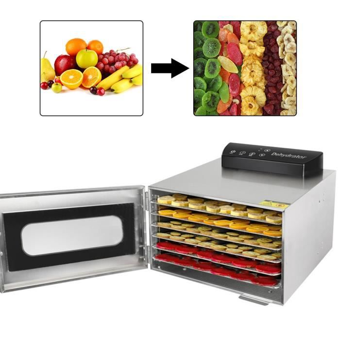 Séchoir d'aliments Mini machine intelligente de dessiccateur de légumes de fruits de déshydrateur de nourriture d'acier