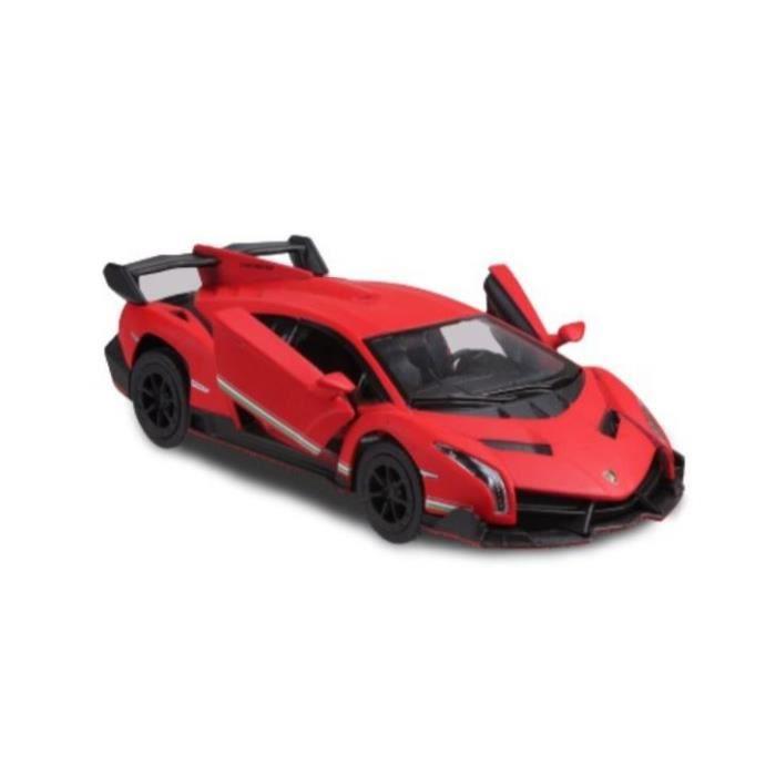 Kinsmart voiture de sport Lamborghini Veneno 1:36 rouge