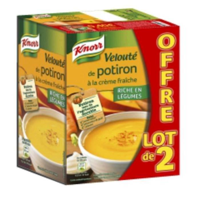 Knorr Velouté de potiron à la crème fraîche 2x1l
