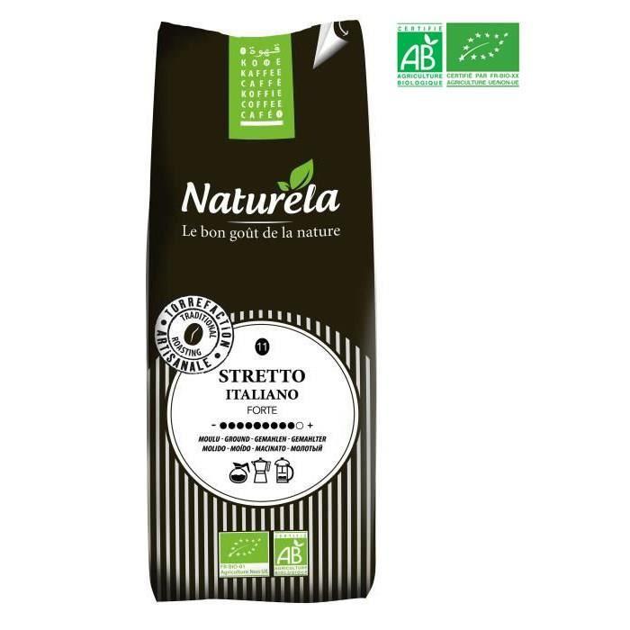 Naturela -250g- Café Sretto Italiano Moulu n° 11 Bio