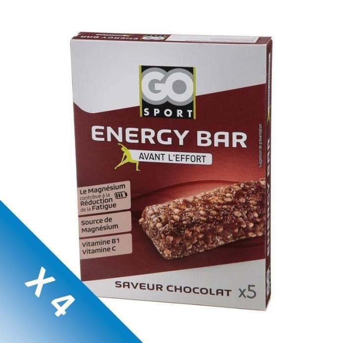 [LOT DE 4] GO SPORT Barre de céréale chocolat - 5x20g