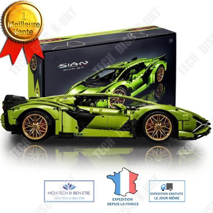 TD® Lamborghini FKP 37 Sián bloc de construction assemblage professionnel mécanique automobile voiture réaliste qualité cadeau Noël