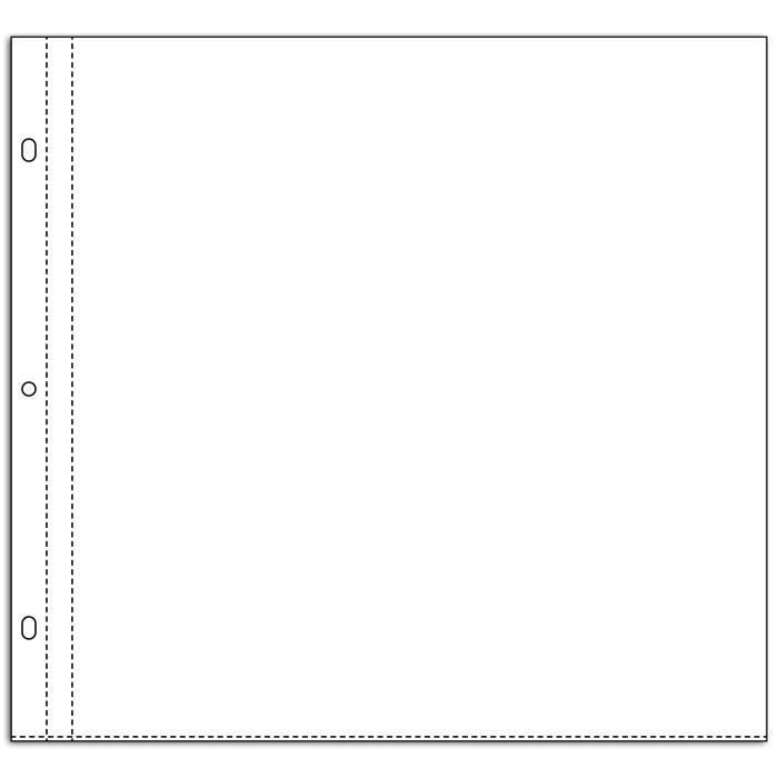 TOGA Lot de 10 pochettes transparentes 30x30