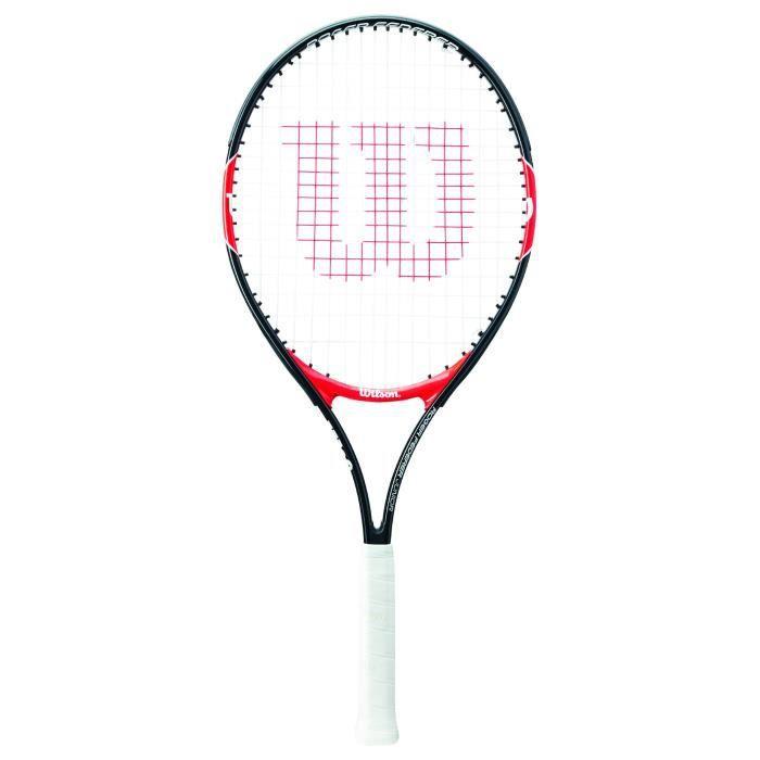 Wilson Raquette de Tennis pour Enfants, Roger Federer 26, À partir de 12 ans, Rouge-Noir, WRT200900