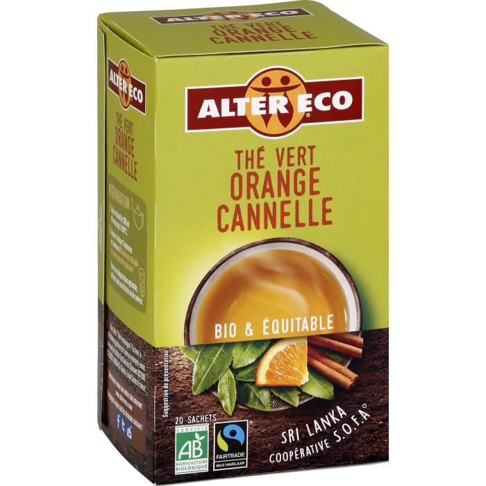 Alter Eco The Vert Orange Cannelle 40g