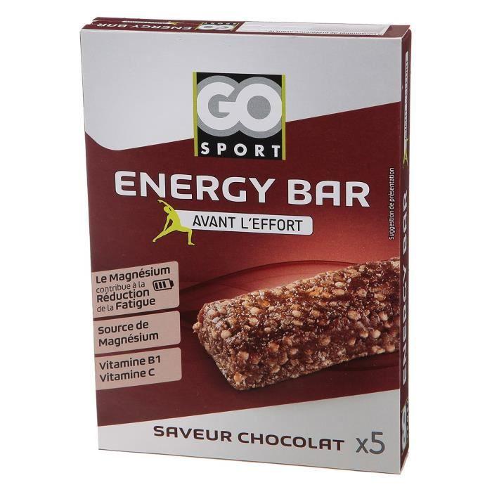 GO SPORT Barre de céréale chocolat - 5x20g