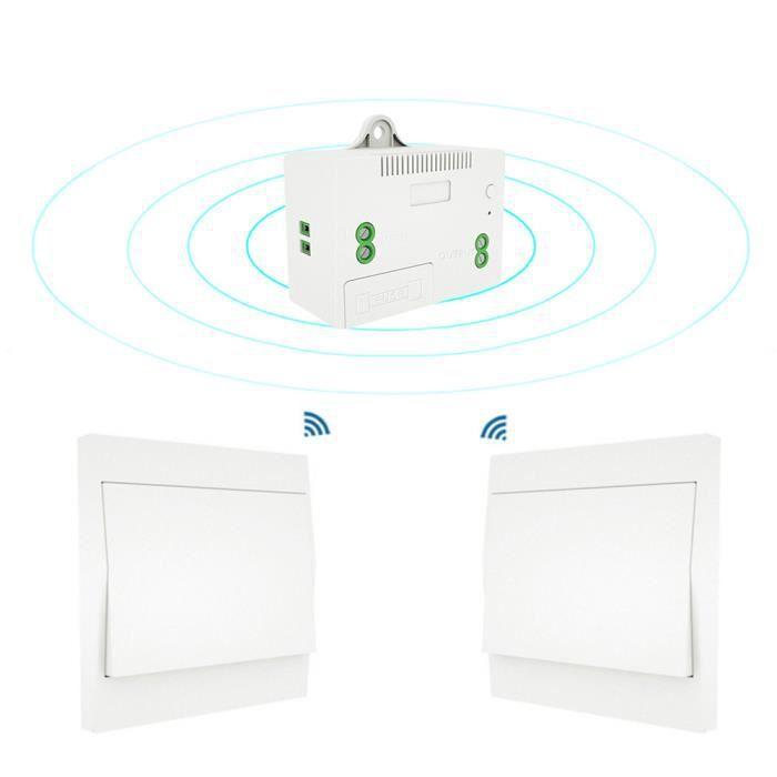 2 Gang 2 Voie Double Interrupteur De Lumière En Plastique Blanc 10 Amp Plaque Unique