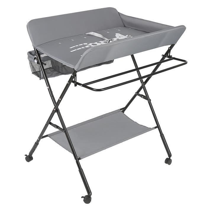 80 * 66 * 98cm Vendeur pro Table a Langer Pliante et Portable R/églable en Hauteur Table /à Langer B/éb/é avec Motif Girafe