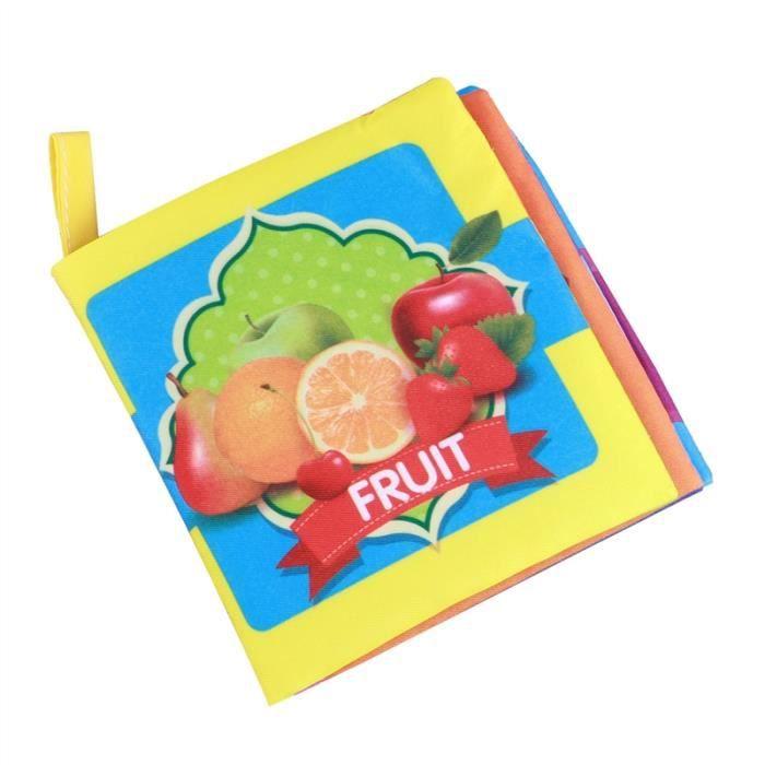 Livres En Tissu Doux Pour Bebe Livre En Premiere Partie De Bebe Livre En Tissu Non Toxique Jouets Educatifs En Apprentissage Fruits