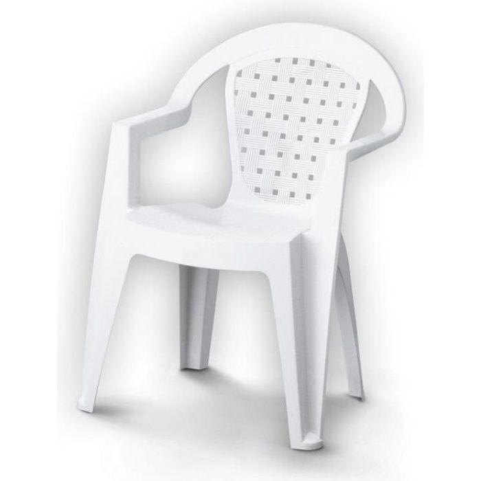 Chaise de jardin Norma en plastique (résine) blanc