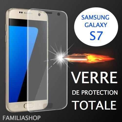 verre tremp transparent samsung galaxy s7 3d bord incurv int gral total achat film protect. Black Bedroom Furniture Sets. Home Design Ideas