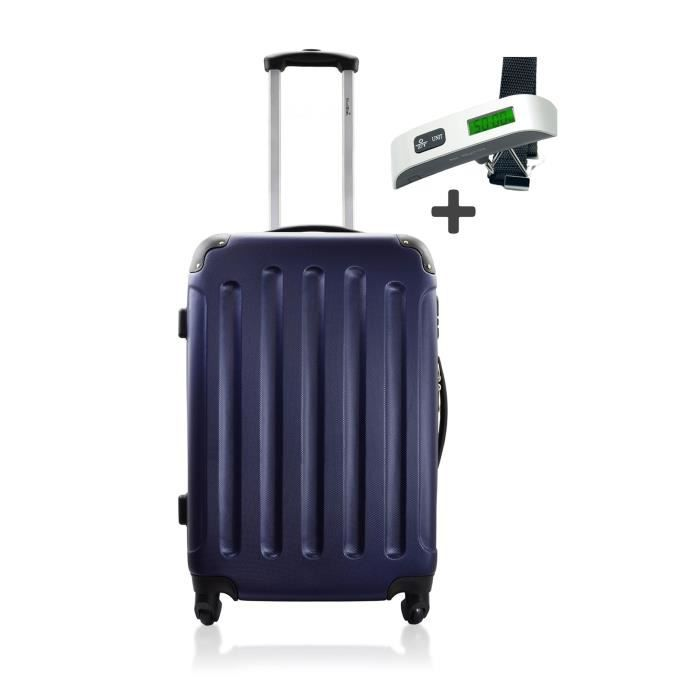 d voyage valise semaine trolley abs madrid navy pese bagage marine achat vente set de. Black Bedroom Furniture Sets. Home Design Ideas
