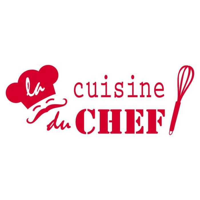 Stickers cuisine du chef achat vente stickers cdiscount - Stickers rouge cuisine ...