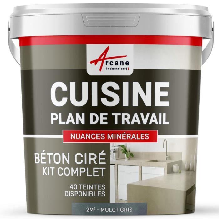 Beton Cire Pour Cuisine Kit 2m 2 Couches Achat Vente