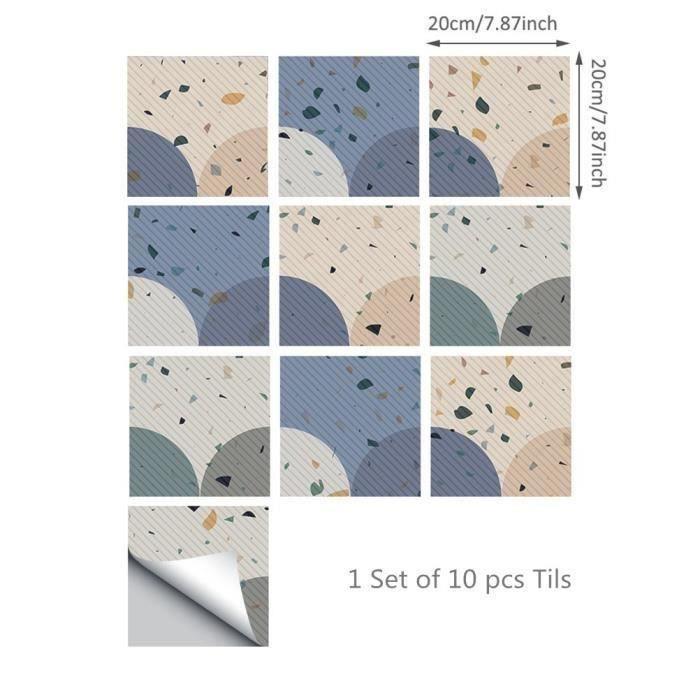 Sticker Carrelage Adhesif Mural Decalque De Carrelage Autocollant De Sol Antiderapant Film Impermeable 20x20 Cm Achat Vente Papier Peint Sticker Carrelage Adhesif Cdiscount